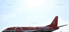 ՖԻՖԱ Աշխարհի առաջնության ոսկե գավաթի դիմավորման արարողությունը «Զվարթնոց» օդանավակայանում