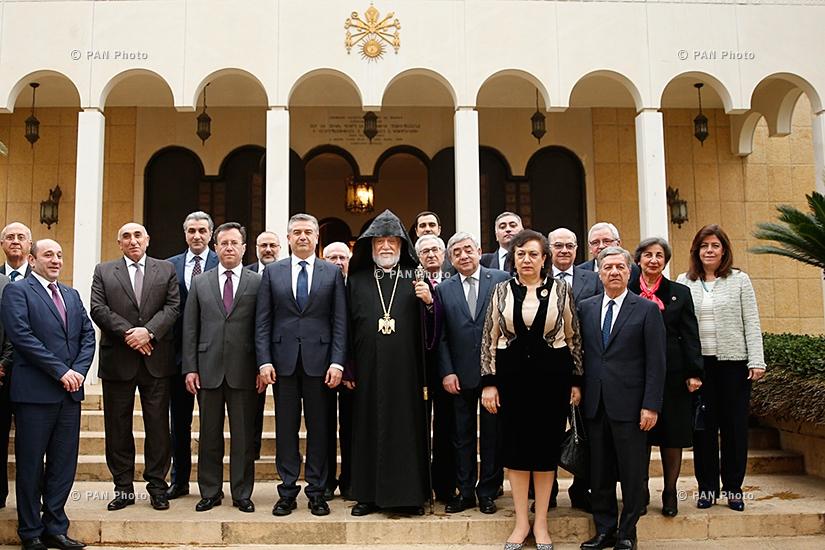 Armenian Prime minister Karen Karapetyan visits to Lebanon