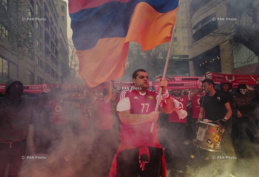 ՖԱՖ-ի երթը` Հայաստան-Էստոնիա ֆուտբոլային ընկերական հանդիպմանն ընդսռաջ