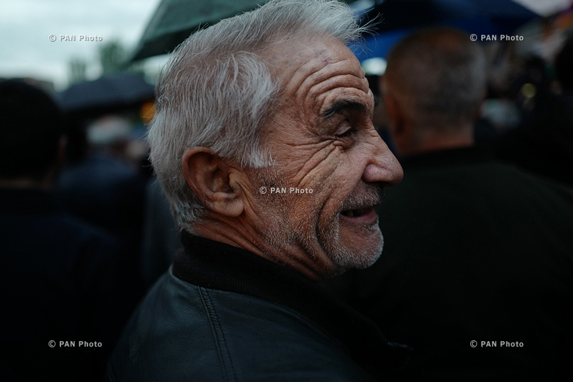 Protest against Armenia's ex-president Serzh Sargsyan's appointment as prime minister in Yerevan: Day 1