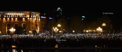 Митинг против премьерства третьего президента Армении Сержа Саргсяна на Площади Республики