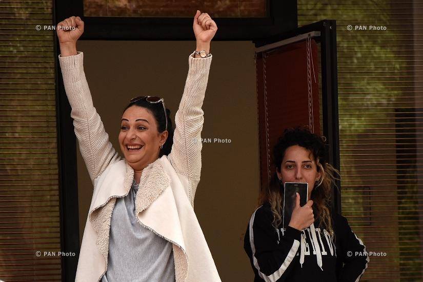 Акция протеста против премьерства Сержа Саргсяна на улицах Еревана: День 6