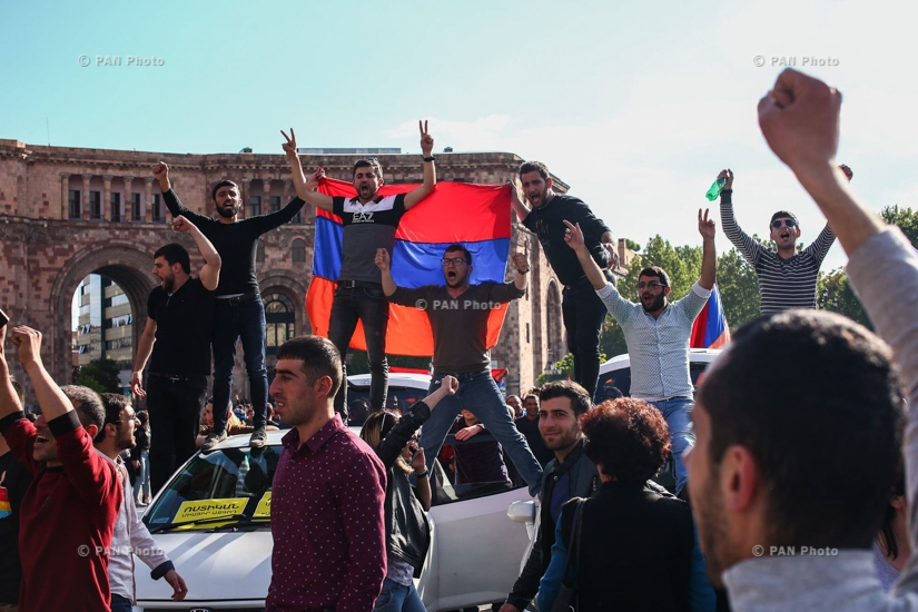 The atmosphere in Yerevan after prime minister Serzh Sargsyan's resignation