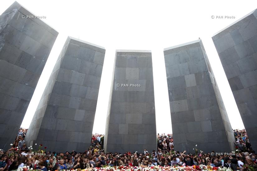 Ընդդիմության առաջնորդ Նիկոլ Փաշինյանի առաջնորդած երթը դեպի Հայոց ցեղասպանության հուշահամալիր