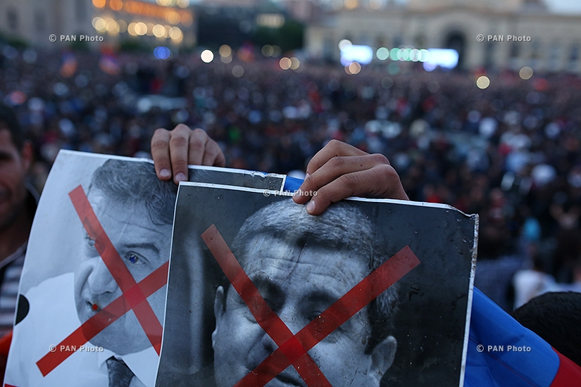 The rally spearheaded by opposition leader Nikol Pashinyan demanding the resignation of ruling Republicans: Day 12