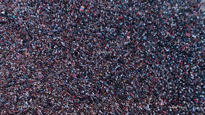 Ընդդիմության առաջնորդ Նիկոլ Փաշինյանի հրավիրած հանրահավաքը Հանրապետության հրապարակում