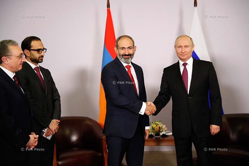 Meeting of Armenian Prime Minister Nikol Pashinyan and Russian President Vladimir Putin in Sochi