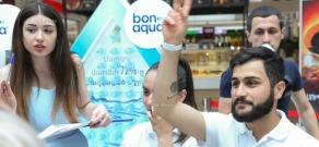 Start of the campaign '21 days with Bonaqua'