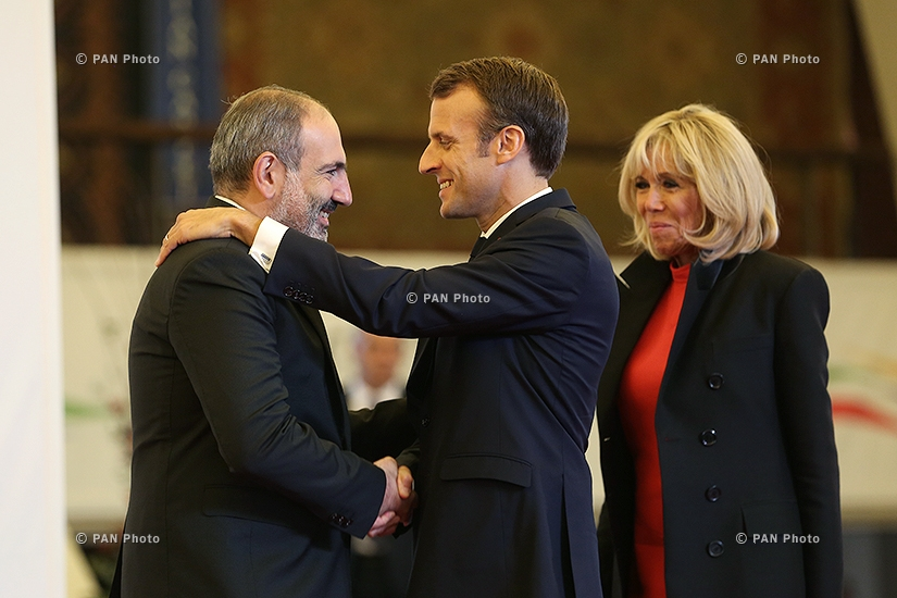 Nikol Pashinyan, Emmanuel and Brigitte Macron