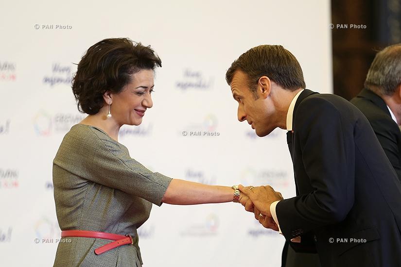 Anna Hakobyan, Emmanuel Macron