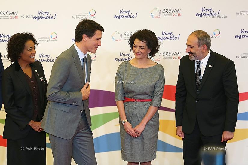 Michaëlle Jean, Justin Trudeau, Anna Hakobyan, Nikol Pashinyan,