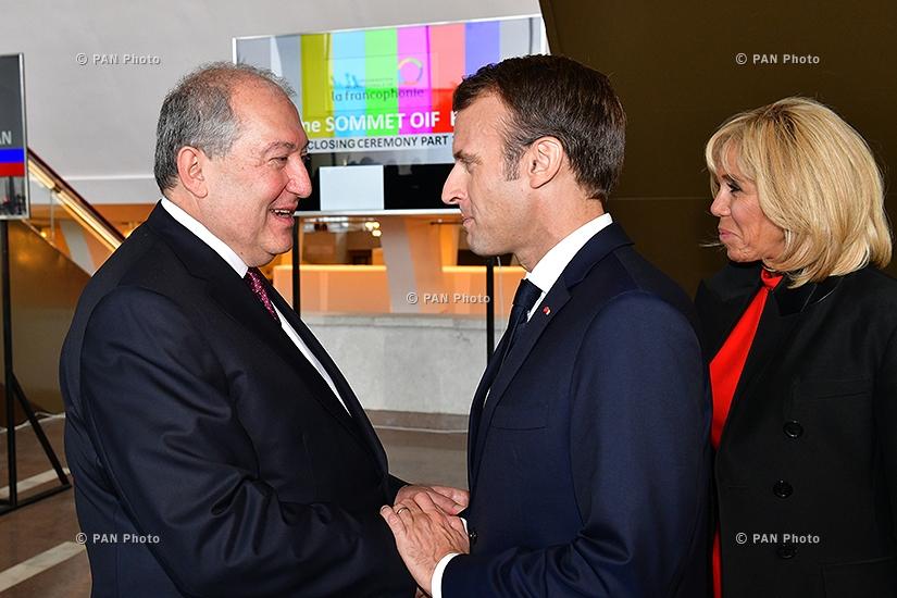 Armen Sargsyan, Emmanuel and Brigitte Macron