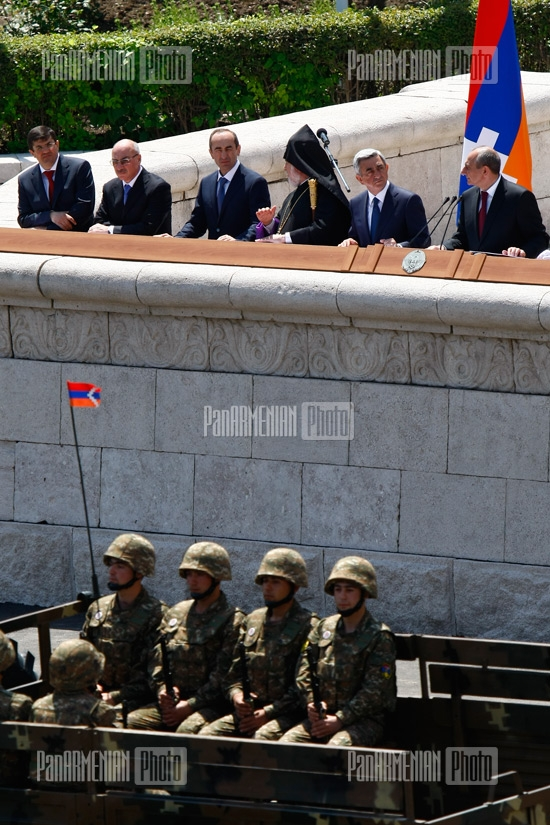 Shushi liberation and Artsakh army formation 20th anniversary parade