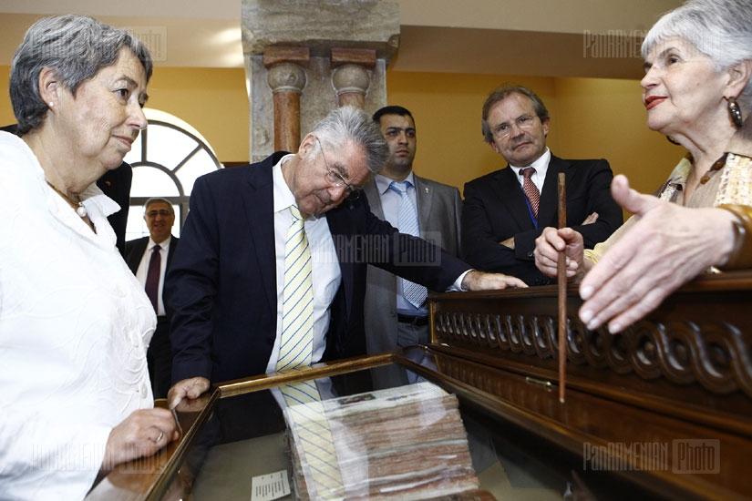 Ավստրիայի նախագահ Հայնց Ֆիշերն այցելեց Մատենադարան