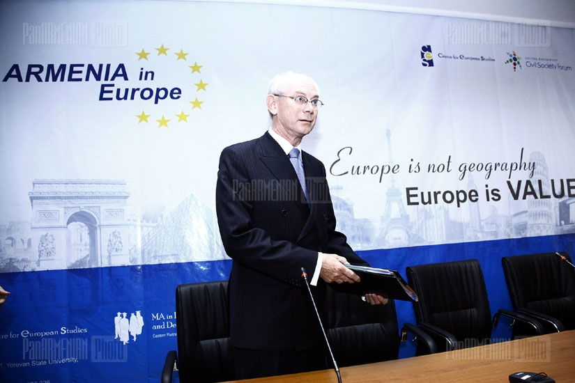 Armenia in Europe conference with participation of European Council President Herman Van Rompuy