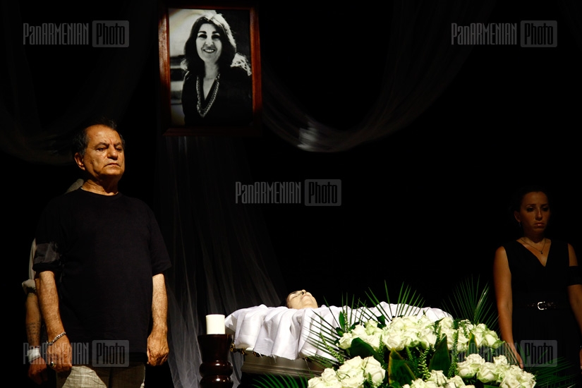 Actress Galya Novents funeral