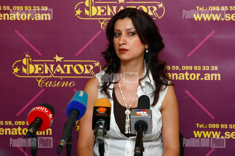 Press conference of Galya Yremyan