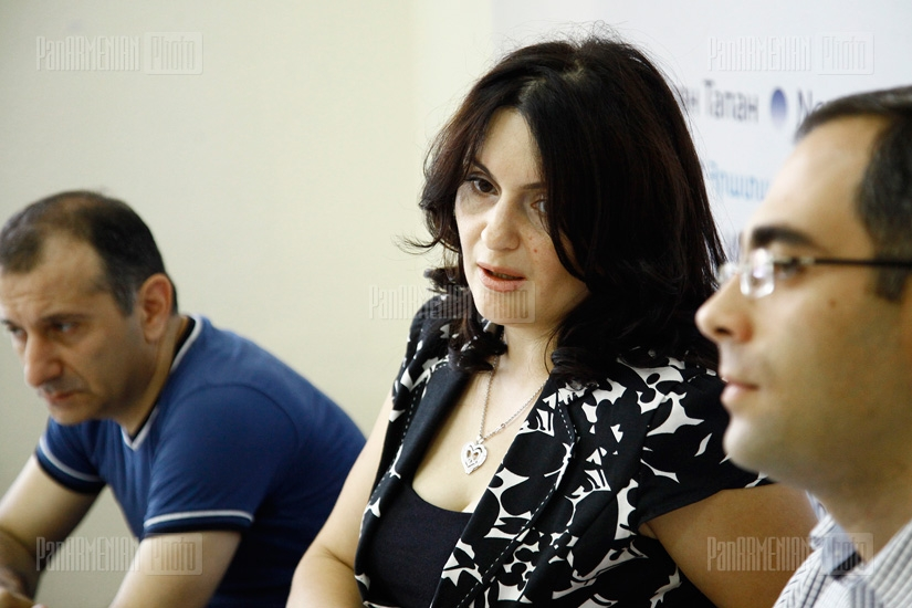 Press conference of Armine Adamyan, Alexan Zakyan and Vardan Sardaryan