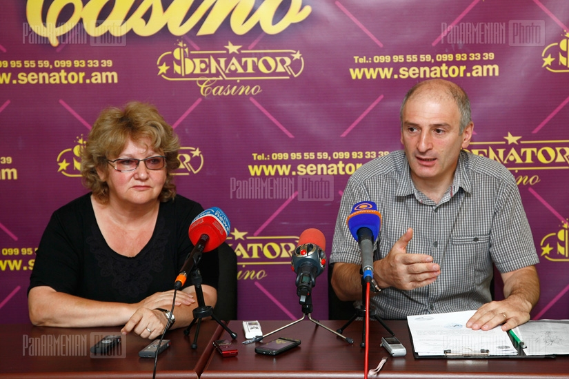 Press conference of Levon Galstyan and Inga Zarafyan
