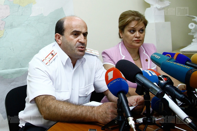 Press conference of Gayane Soghomonyan and Norik Sargsyan