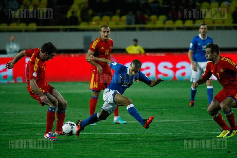 Футбольный матч италия