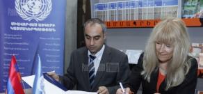 UN Public Information Department and Yerevan State University sign a cooperation memorandum