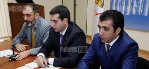 Press conference of Yerevan's Head Designer Gaga Amatuni, President of