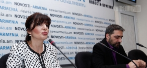 Press conference of Sona Harutyunyan and Narek Avetisyan dedicated to exhibition held in Warsaw Royal Palace