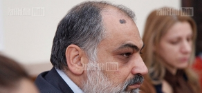 Press conference of Director of the Oriental Studies Institute of the Armenian National Academy of Sciences Ruben Safrastyan