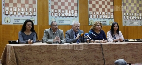 Press conference with participation of
