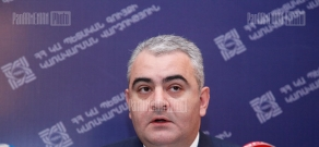 Press conference of the head of State Property Management Department Arman Sahakyan