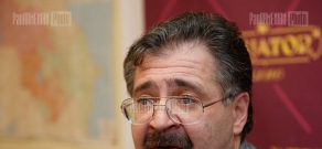 Press conference of political scientist Stepan Shakaryants