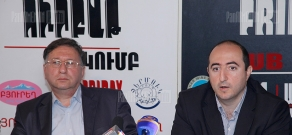 Press conference of Varuzhan Hoktanyan and Artak Manukyan