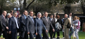 "Armenian President visits the recreation zone outside ""Armenia"