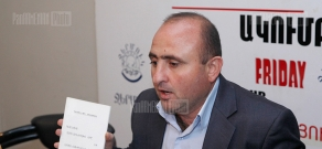 Press conference of Tatul Hakobyan