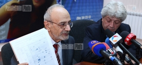 Press conference of Armen Poghosyan and Harutyun Mesrobyan