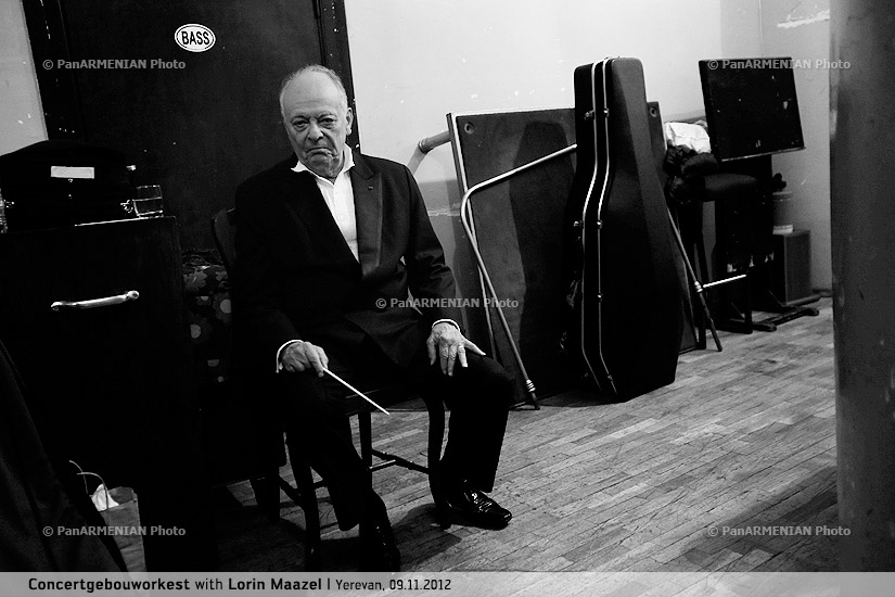 Concert and backstage of Royal Concertgebouw Orchestra with Lorin Maazel
