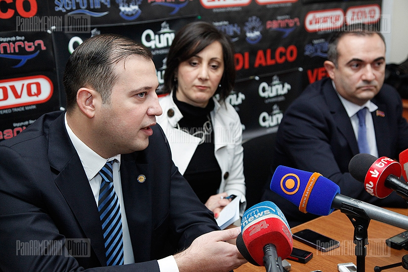 Press conference of Vahan Babayan and Tevan Poghosyan