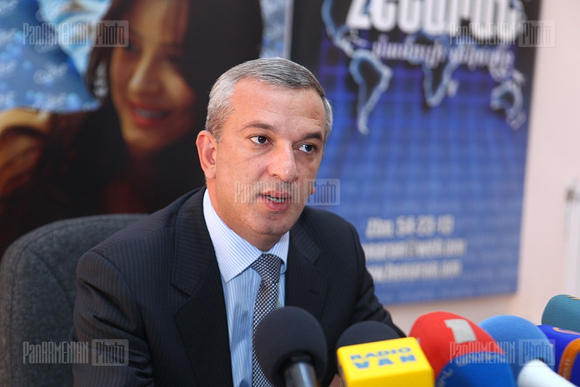 Press conference of Deputy Minister of Sport and Youth Affairs Arsen Karamyan