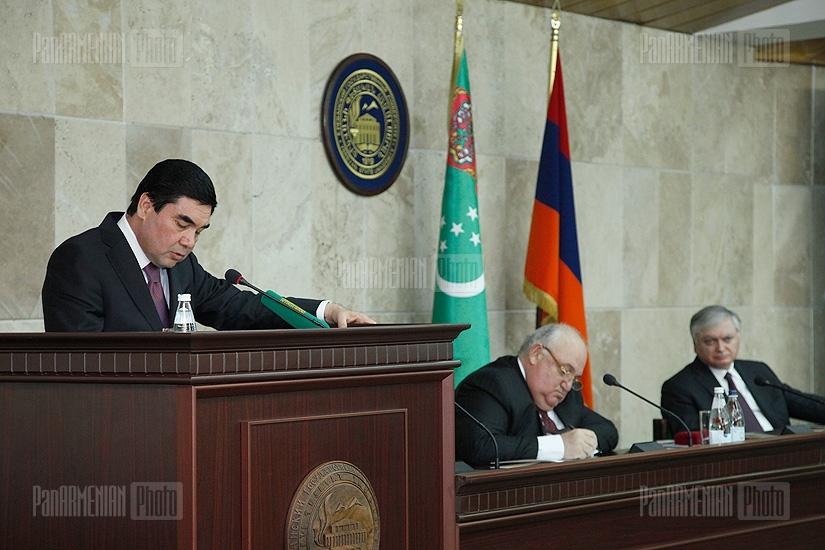Turkmenistan's President Gurbanguly Berdimuhamedov's visit to YSU