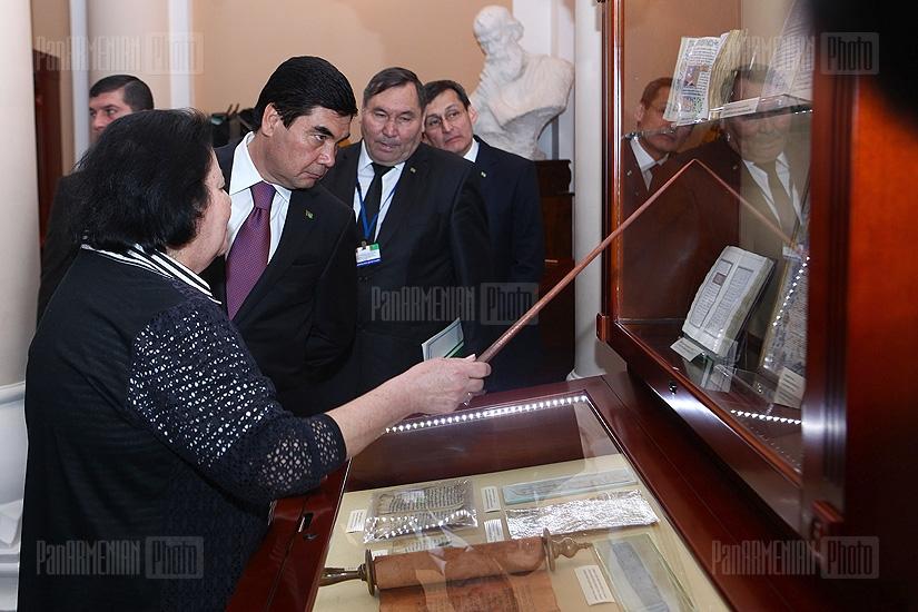 Turkmenistan's President Gurbanguly Berdimuhamedov's visit to Matenadaran