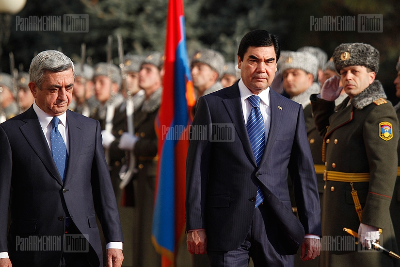 Send-off given for President of Turkmenistan Gurbanguly Berdimuhamedov at the presidential residence of Armenia