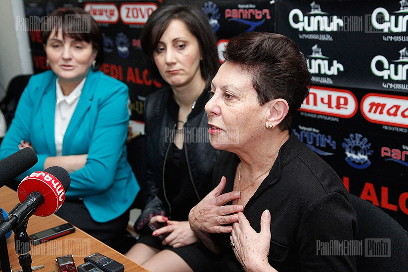 Press conference of Margarita Yesayan and Anahit Bakhshyan