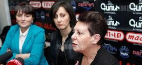 Press conference of Margarita Yesayan and Anahit Bakhshyan