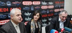 Press conference of Supreme Council ex-MP Azat Arshakyan and PR Association director Karen Kocharyan