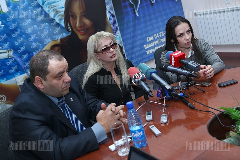 Press conference of Marina Areyan and Alexander Amaryan