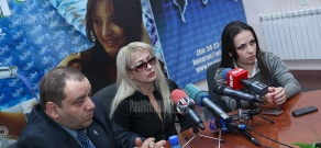 Press conference of Marina Areyan and Alexander Amaryan