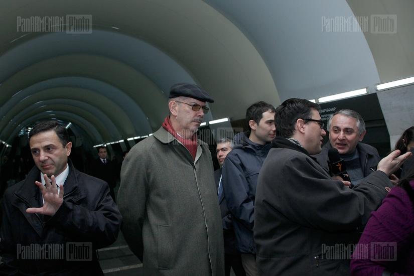 EU officials' visit to Yerevan Metro