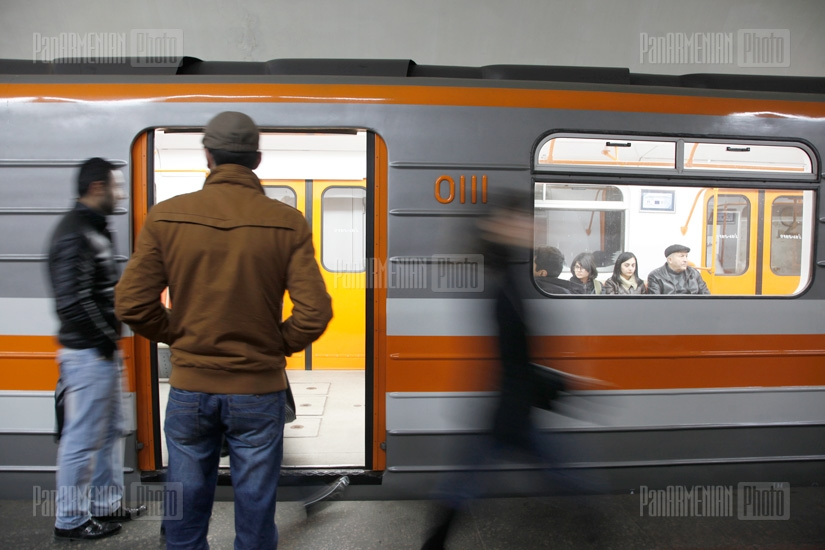 EU officials' visit to Yerevan Metro