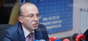 Press conference of Tatul Manseryan